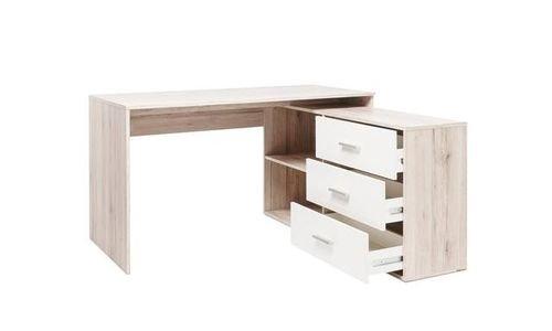 Дървено Ъглово бюро London-2 L Desk с 3 чекмеджета