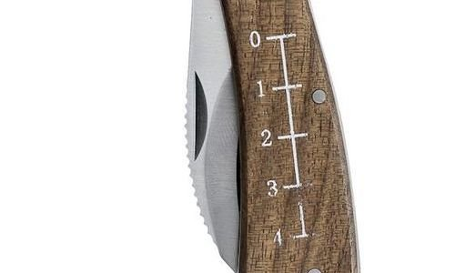 Нож за гъби Sagaform 5017685 дръжка дърво орех нер