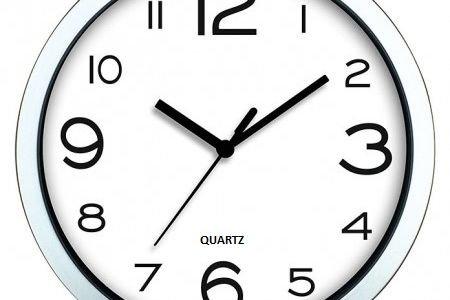 Стенен часовник Quartz метал стъкло 30 см диаметър