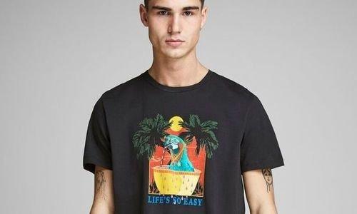 Тениска JACK & JONES Men's T-Shirt мъжка L блуза
