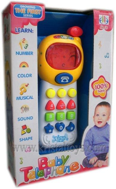Детска играчка Занимателно детско телефонче със звук и светлина