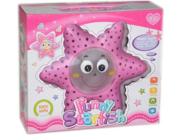 Детска играчка Занимателна звезда - свети и се движи