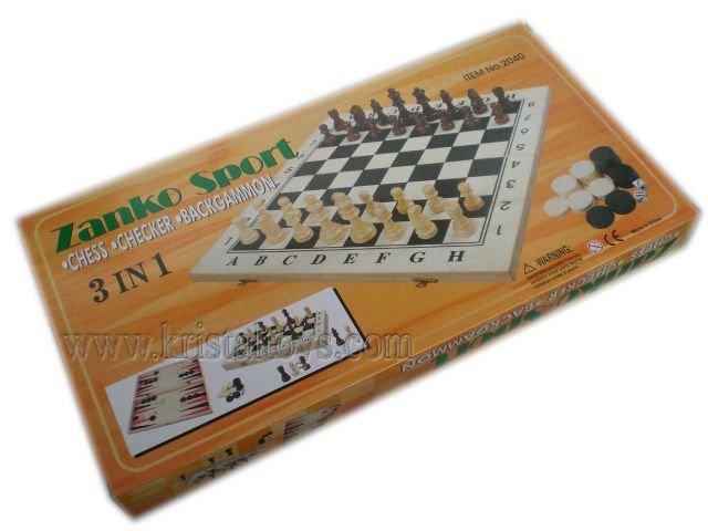 Класически Шах в луксозна кутия с табла