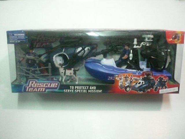 Детска играчка Военен Спасителен екип с лодки