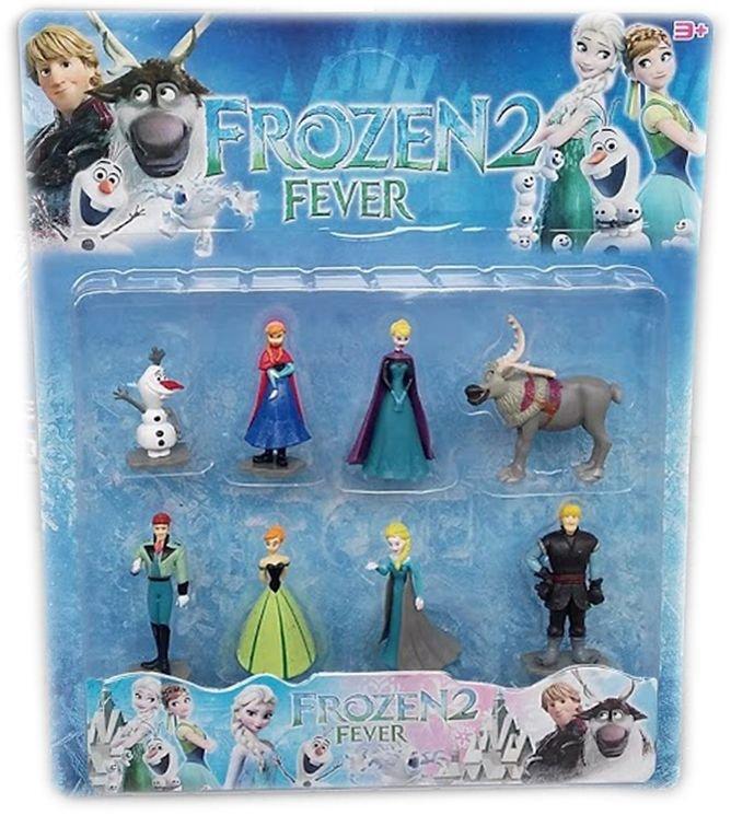 Герои Замръзналото кралство  8 фигури - Елза, Анна, Кристоф, Ханс, Олаф и Маршмелоу Фрозен Frozen