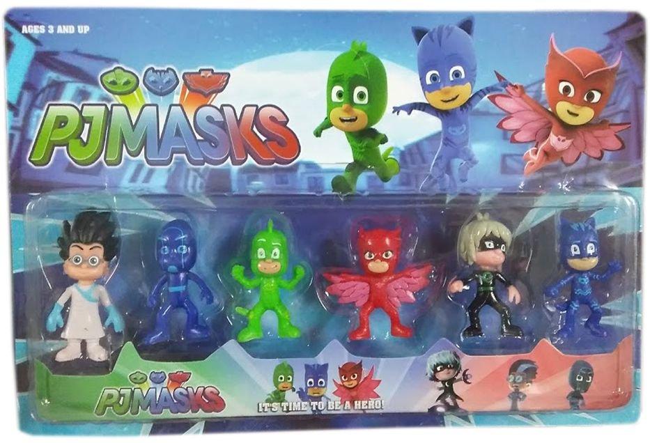 Детски комплект 6 фигури Пи Джей Маск PJ Masks - играчки и за торта