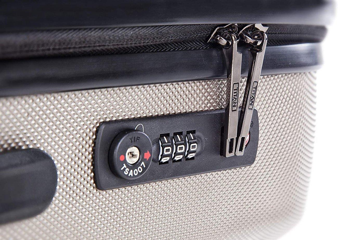 Комплект куфари Titan 809102-40 Luggage S M L 3 броя твърди куфари с колела