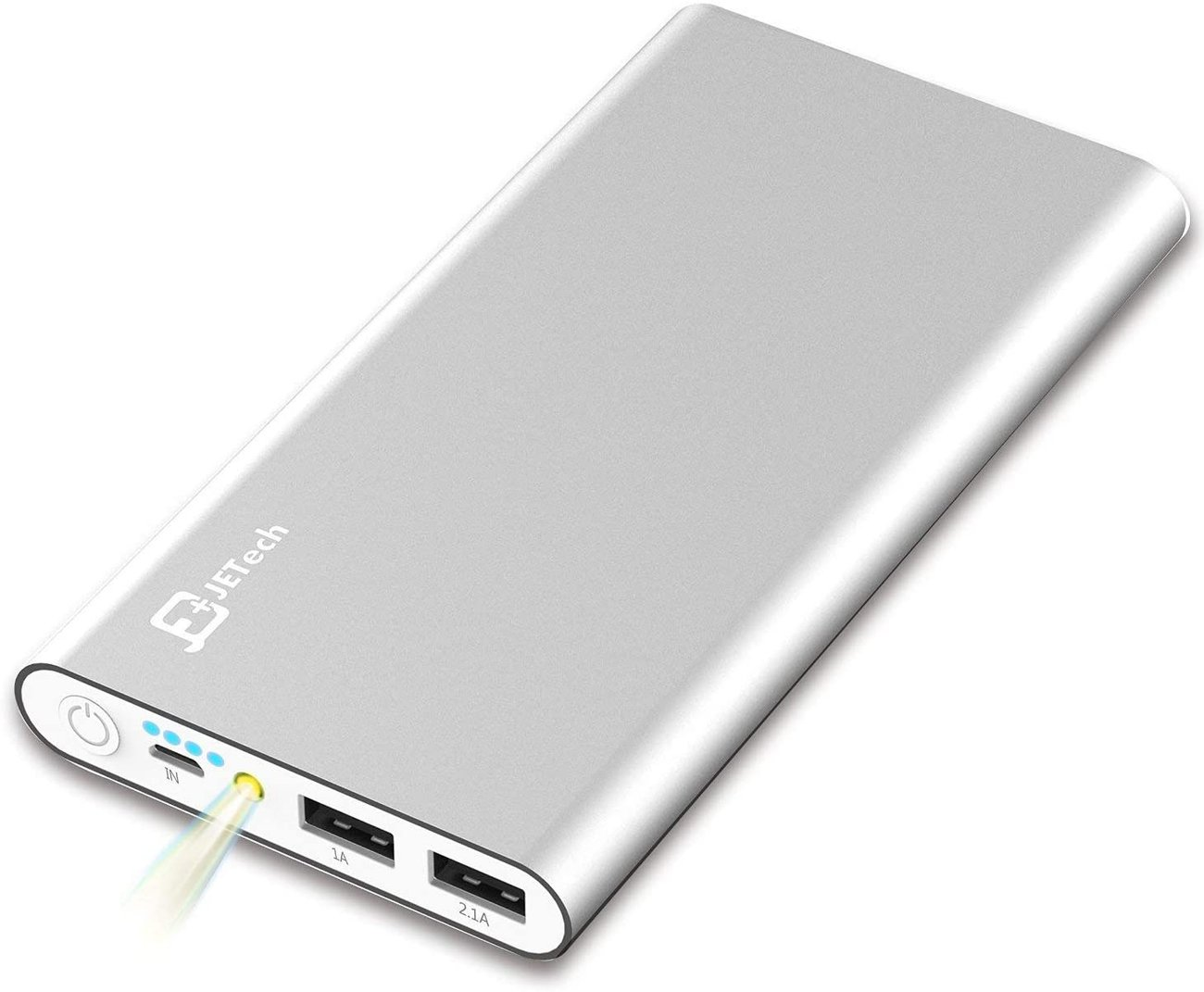 Портативна Външна батерия JETech 0761 Power Bank 10000mAh 5V 1A 2.1A Преносимо зарядно
