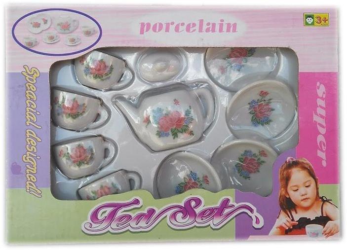 Детски комплект Порцеланов сервиз за чай за кукли
