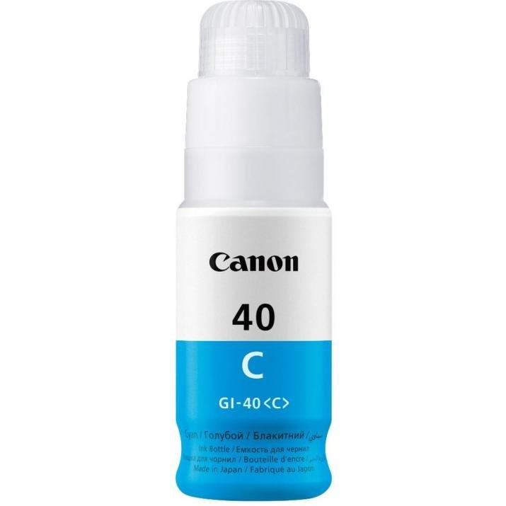 Резервно мастило Canon GI-40 C консуматив за принтер Canon PIXMA оригинален тонер