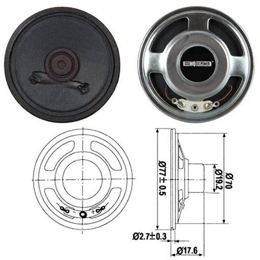 Мини високоговорител Velleman MLS4 HQ POWER Mini Speakers 8 Ом 85 dB 300 - 5000 Hz