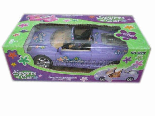 Детска играчка музикална кола за кукли