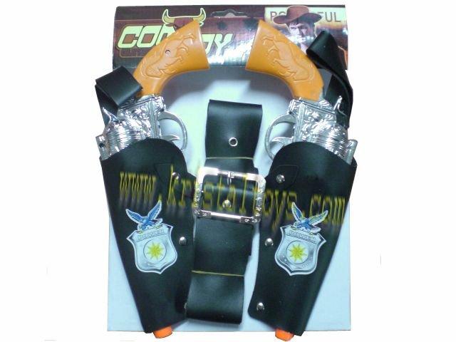 Детска играчка комплект Пистолети кобури и колан