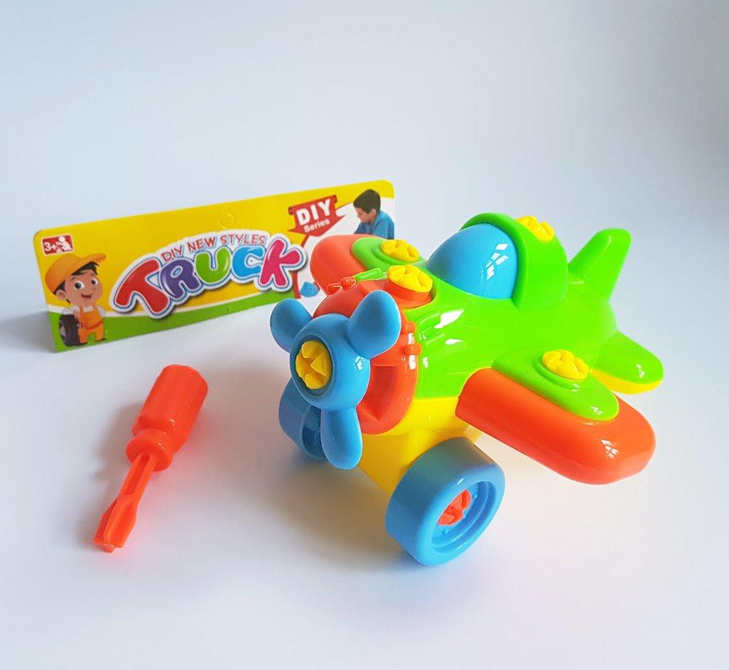 Детска играчка Конструктор с форма на Самолет с инструмент