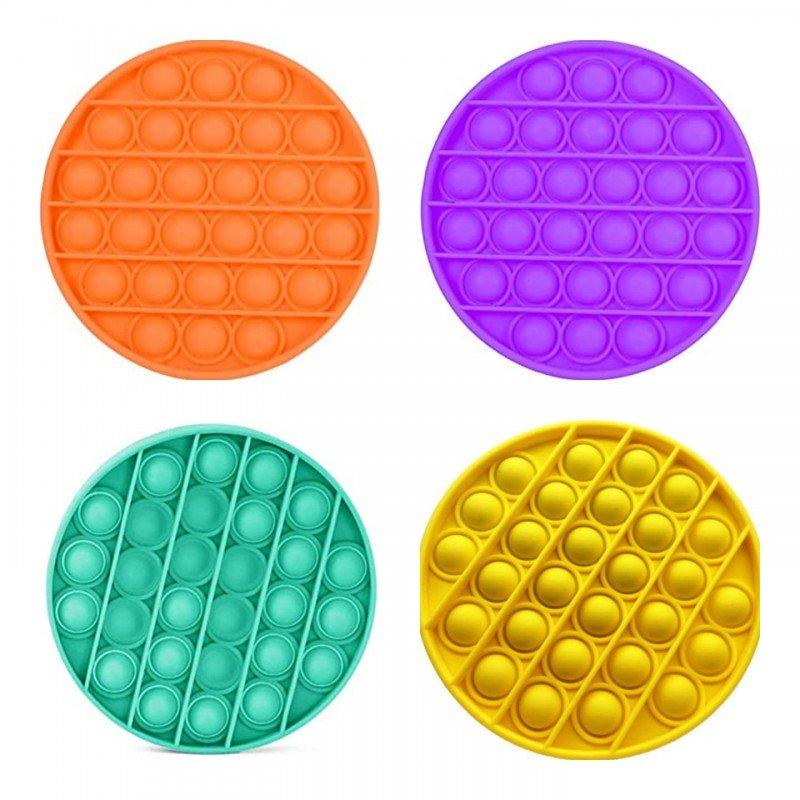 Антистрес детска играчка Фиджет Попит FIDGET POP IT с форма на кръг, кръгъл Попит