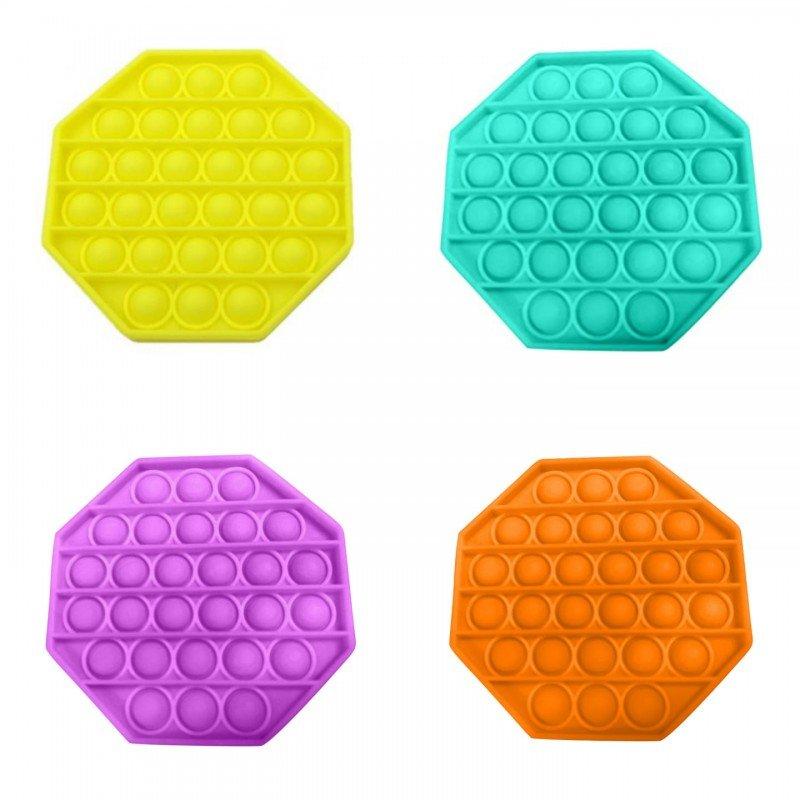 Антистрес детска играчка Фиджет Попит FIDGET POP IT с форма на освоъгълник, осмоъгълен Попит
