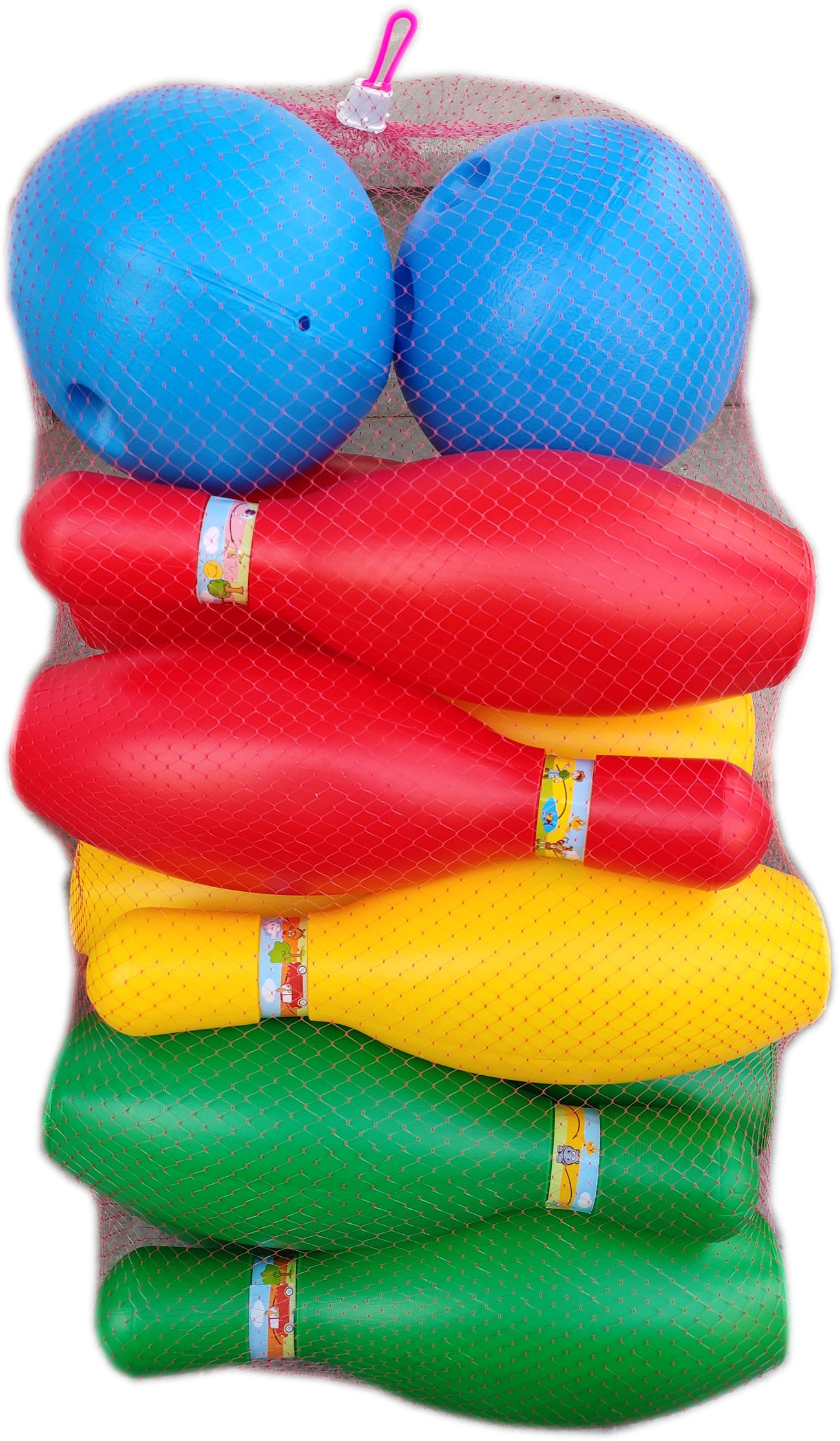 Детски спортен Комплект за Боулинг с десет кегли и две топки - огромен