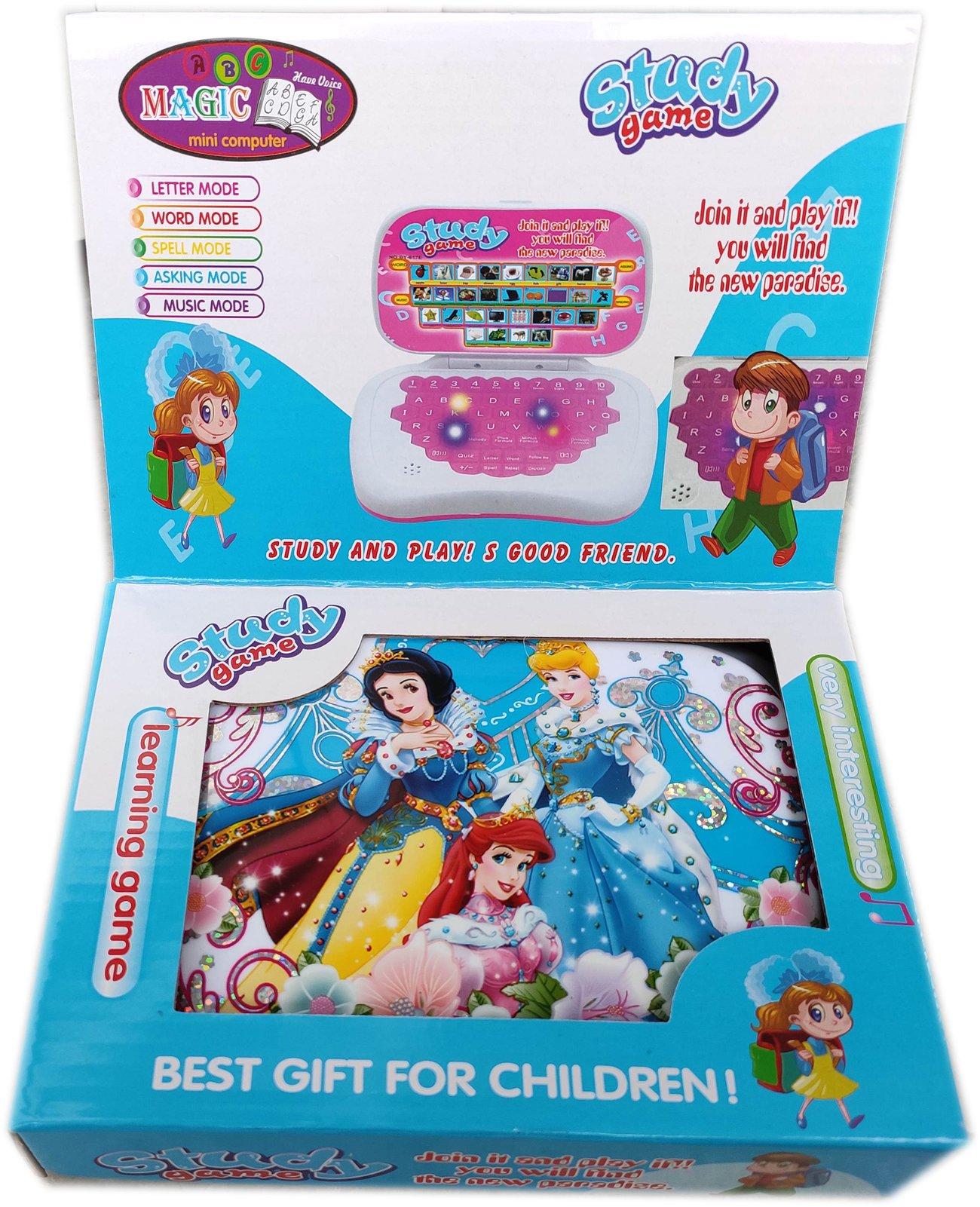 Детски лаптоп компютър на български език картинка на Принцесите Princess