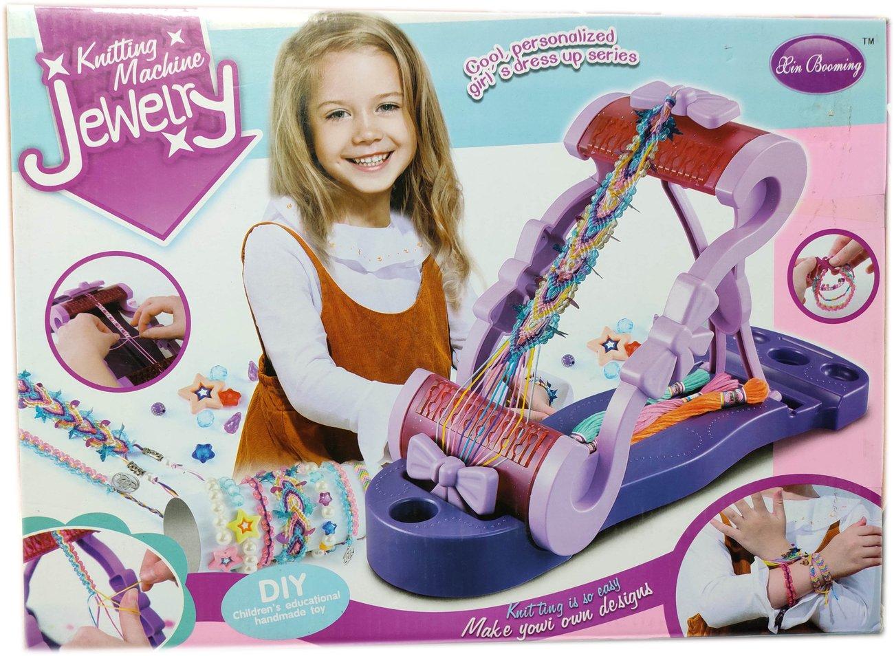 Детски комплект Станче за изработване и плетене на гривни и други бижута