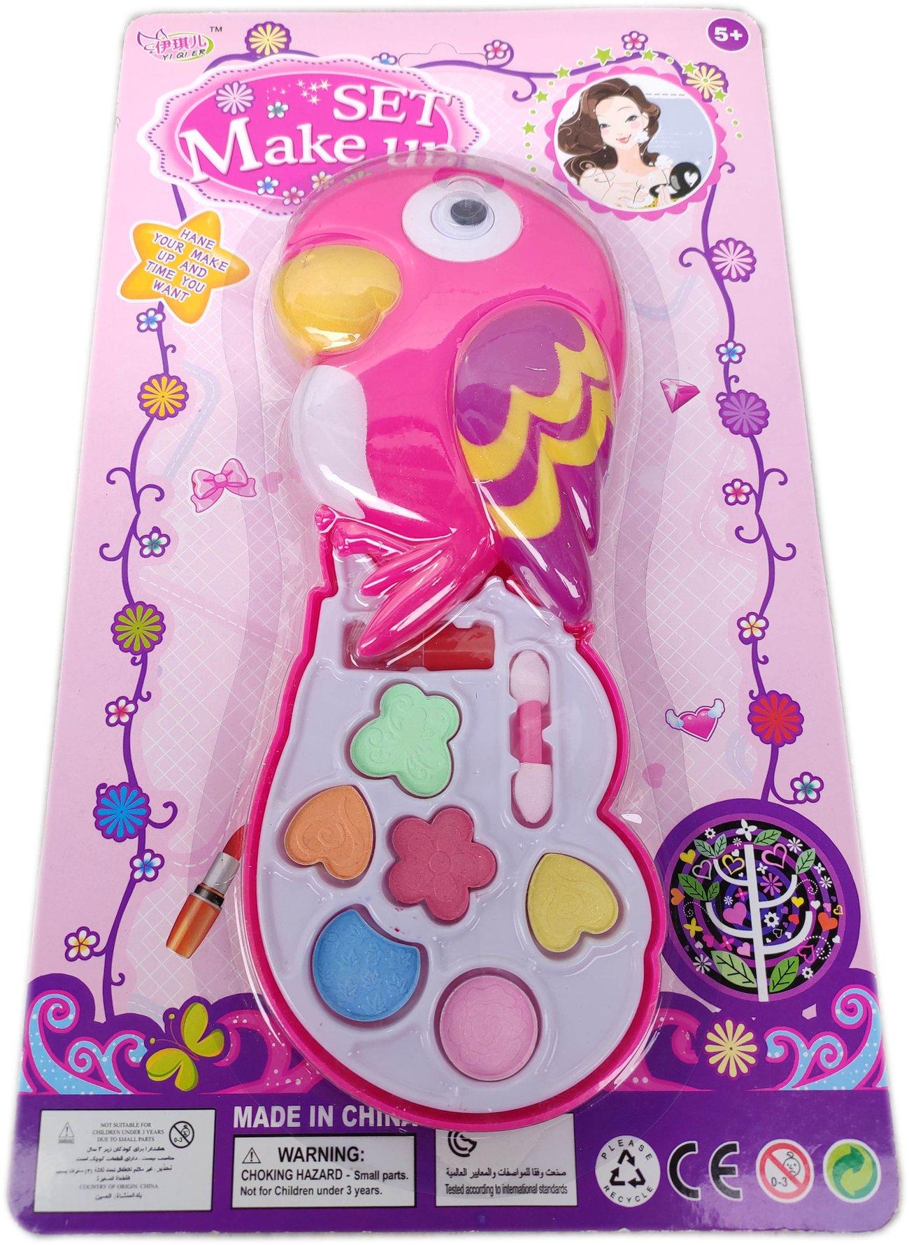 Детски Бюти комплект с грим за кукли с форма на Папагал