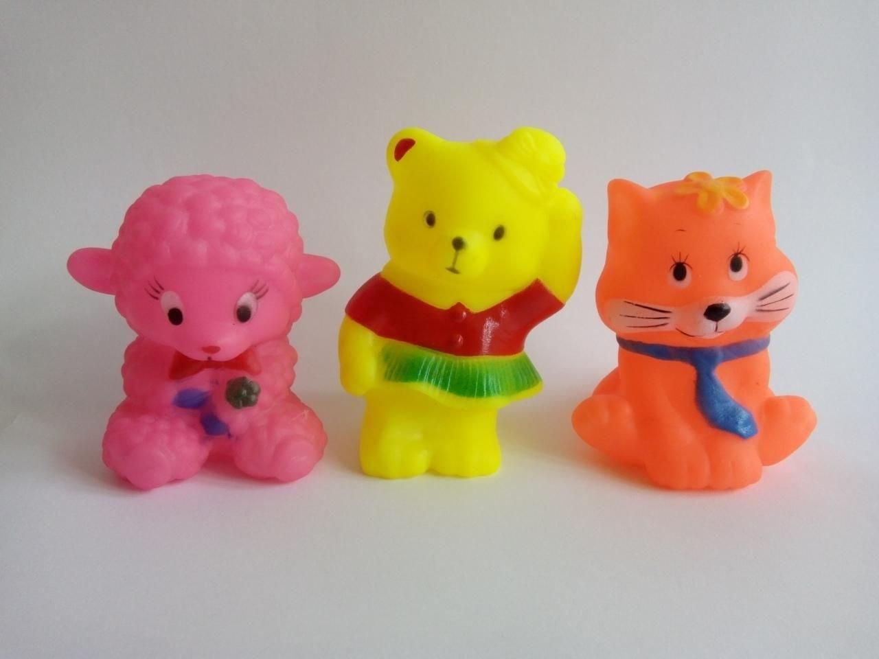 Комплект три броя гумени играчки Мечо пух и приятели