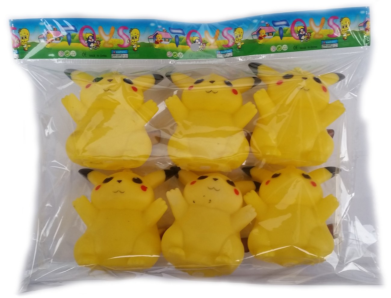 Комплект Покемон шест броя гумени играчки
