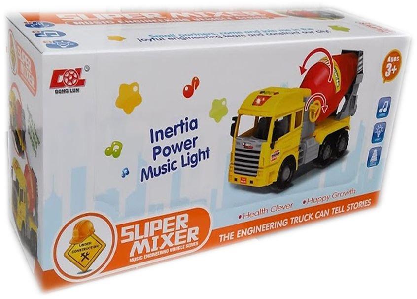 Детска играчка Камион бетоновоз миксер със светлина и звук в подаръчна опаковка