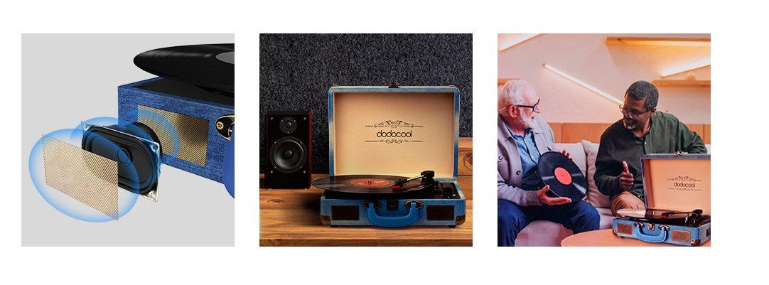 Грамофон Dodocool DA187BL дигитализиращ Bluetooth USB SD карта RCA