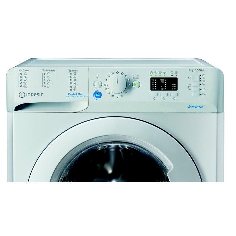 Пералня Indesit BWSA 61051 W EU N , 1000 об./мин., 6.00 kg, F , Бял