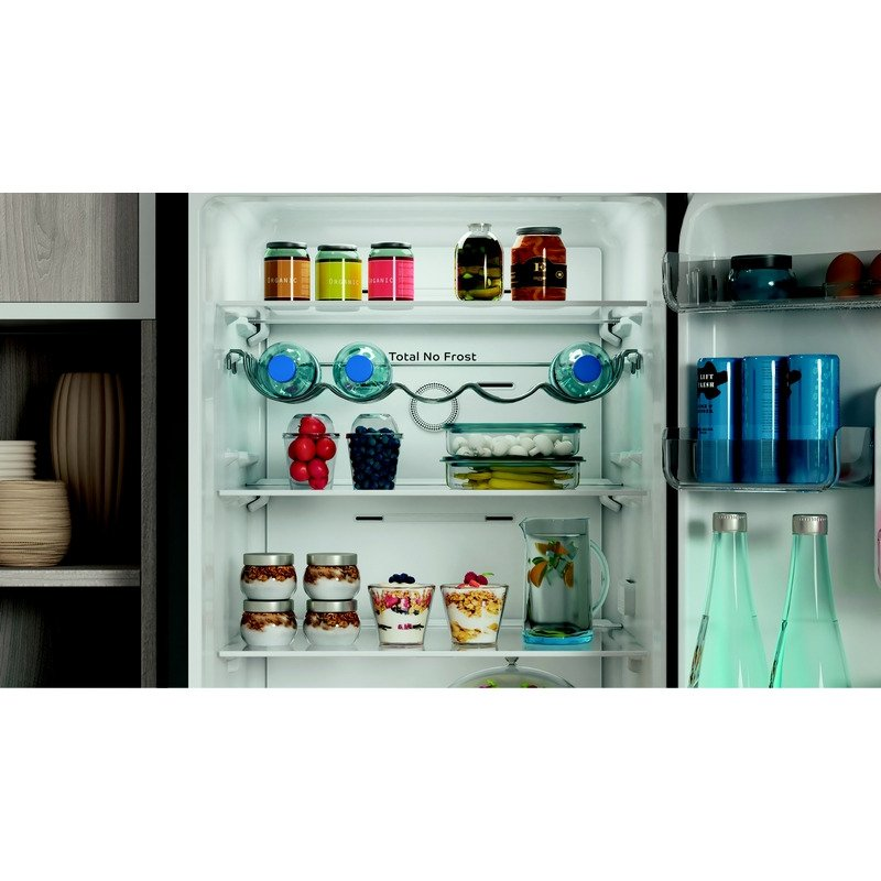 Хладилник с фризер Indesit INFC8 TI21X , 335 l, F , No Frost , Инокс