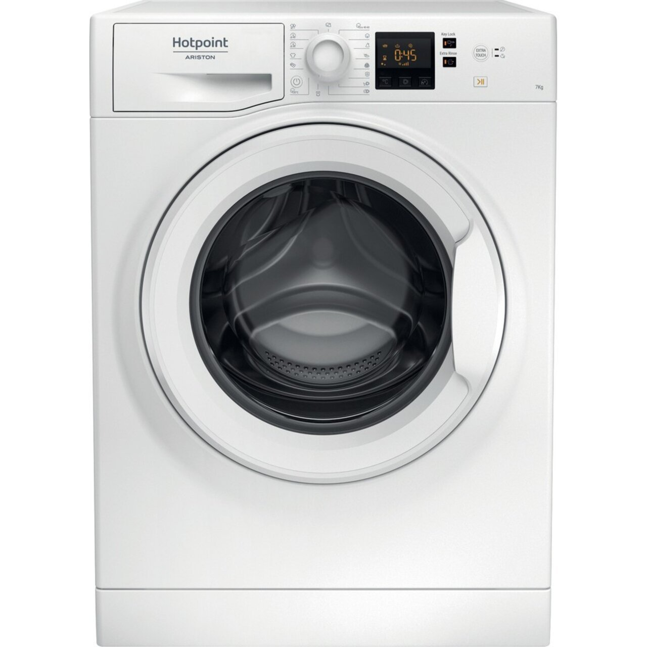 Пералня Hotpoint-Ariston NS702U W EU , 1000 об./мин., 7.00 kg, E , Бял