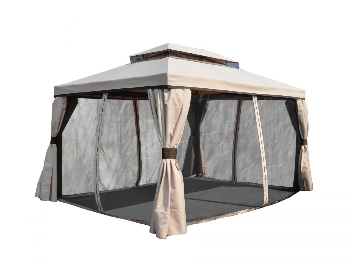 Градински павилион 4x3x2.65м, кафяв