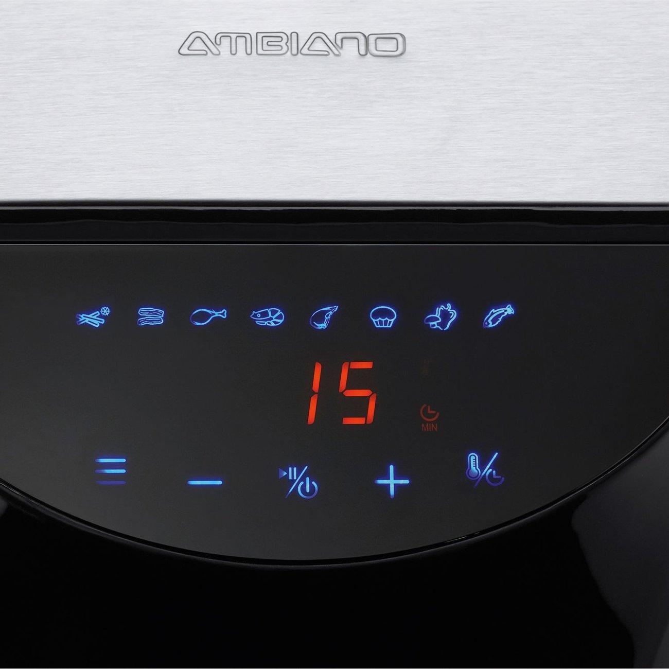 Фритюрник с горещ въздух Ambiano 91182 Air Fryer 3.3L здравословно готвене с малко мазнина