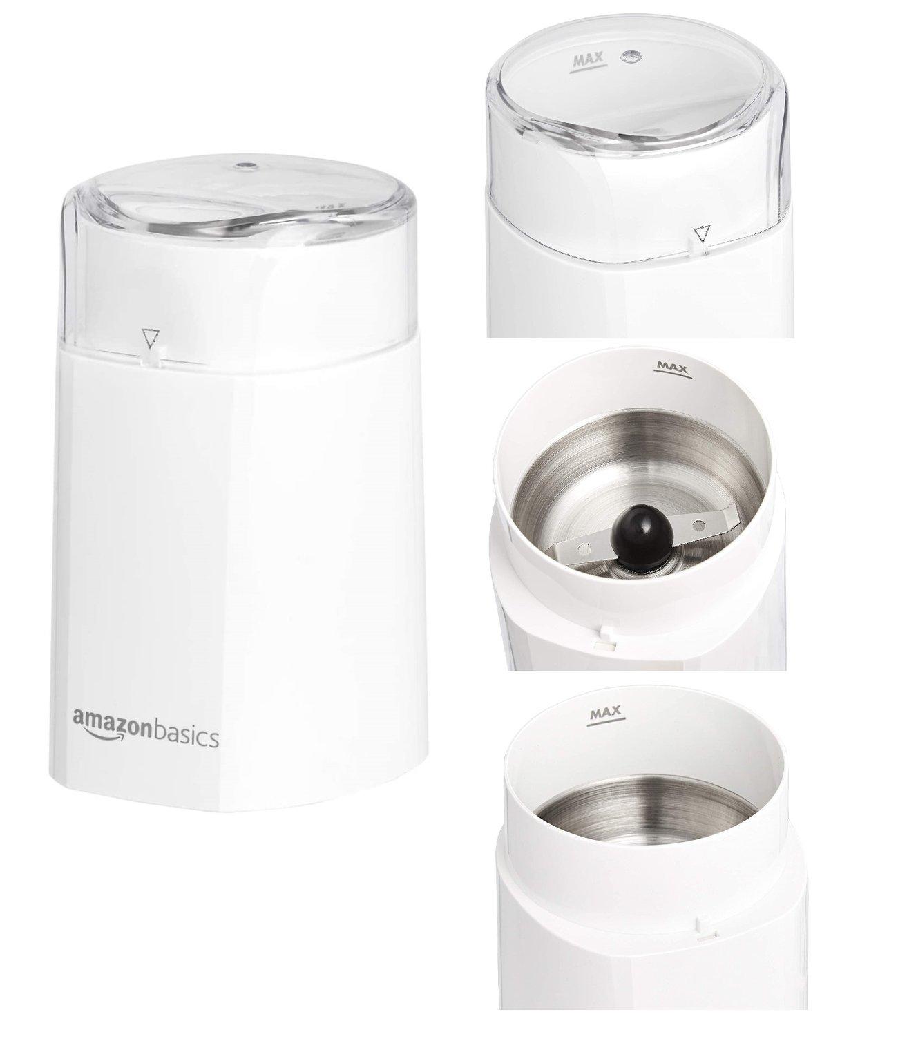 Кафемелачка Amazon Basics CG9403-GS-W 150W ел мелница за кафе подправки