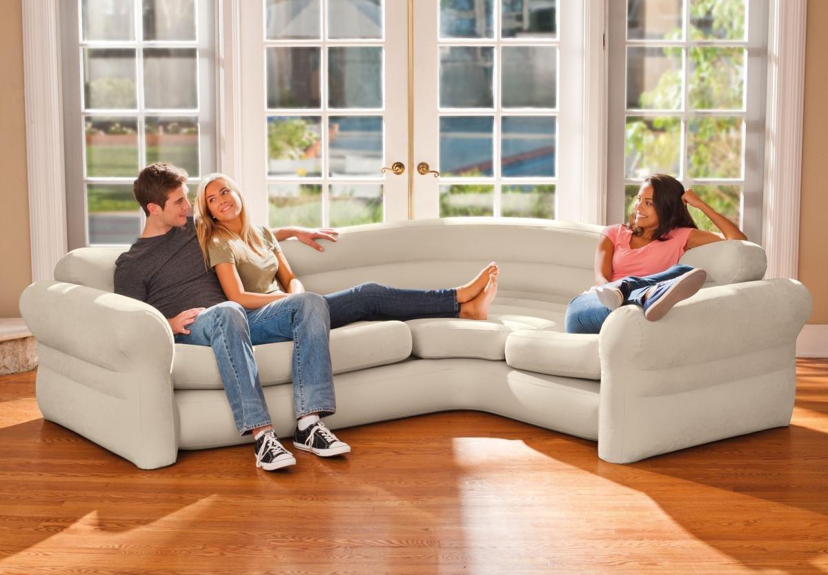 Надуваем ъглов диван