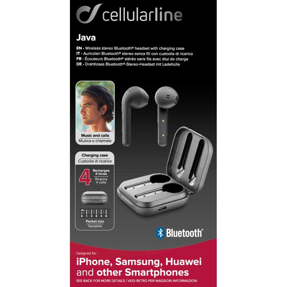 True wireless слушалки CELLULAR LINE JAVA
