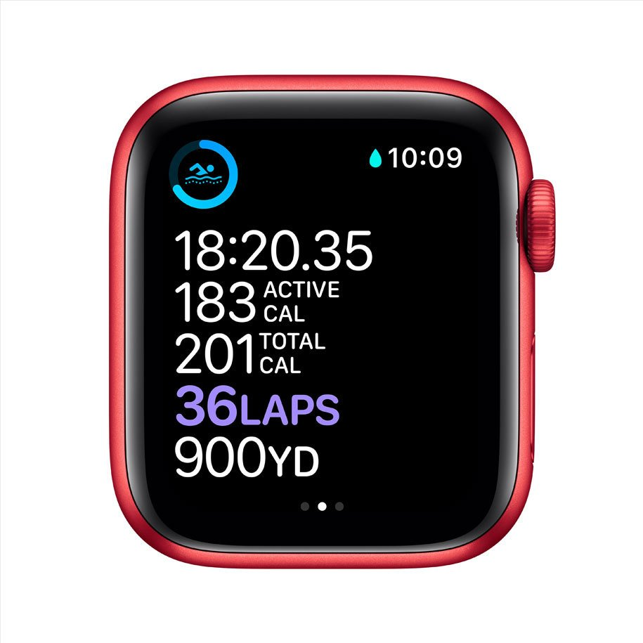 SMART WATCH APPLE S6 RED SPORT BAND M00A3