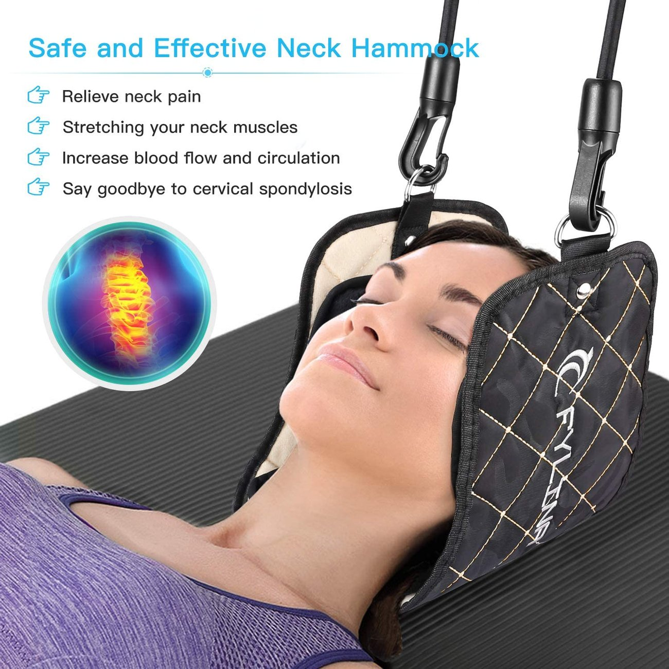 Хамак за глава Fylina 9002-BLK масажор за глава и врат