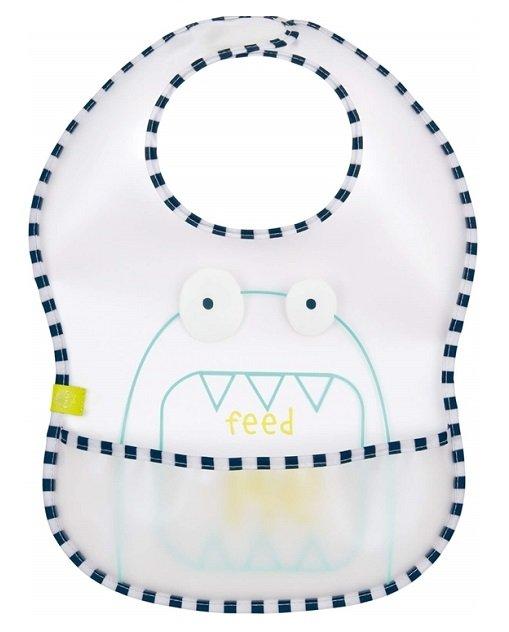 Лигавник с джоб Lassig EVA bib Little Monsters Bouncing Bob LTEXBEVA193 непромокаем найлонов