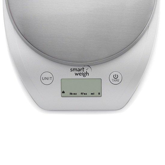 Кухненска везна SmartWeigh PLS500-SIL 5 кг g lb oz ml fl дигитална функция Тара