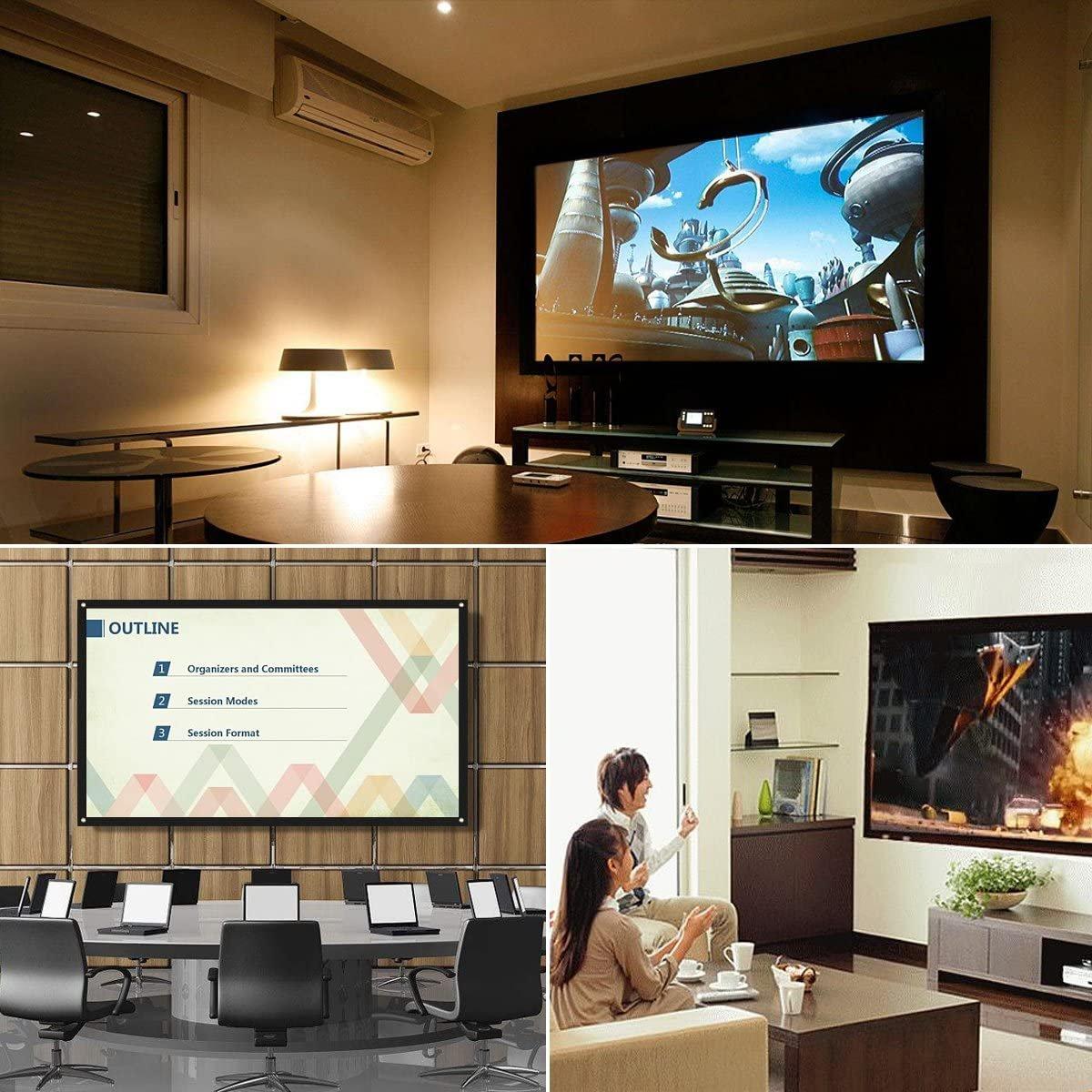 """Екран за проектор Mileagea ES-32 100"""" 220 x 124 см 16:9 портативно платно фолд платно за екран"""