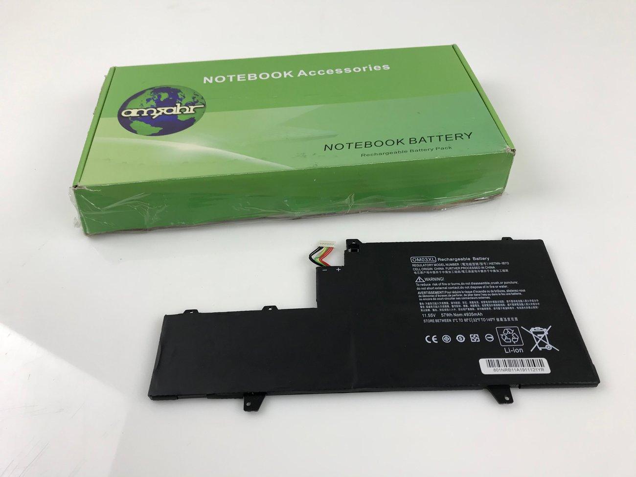Вътрешна батерия Amsahr OM03XL 11.55 V 4935 mAh за лаптоп HP EliteBook 1030 G2