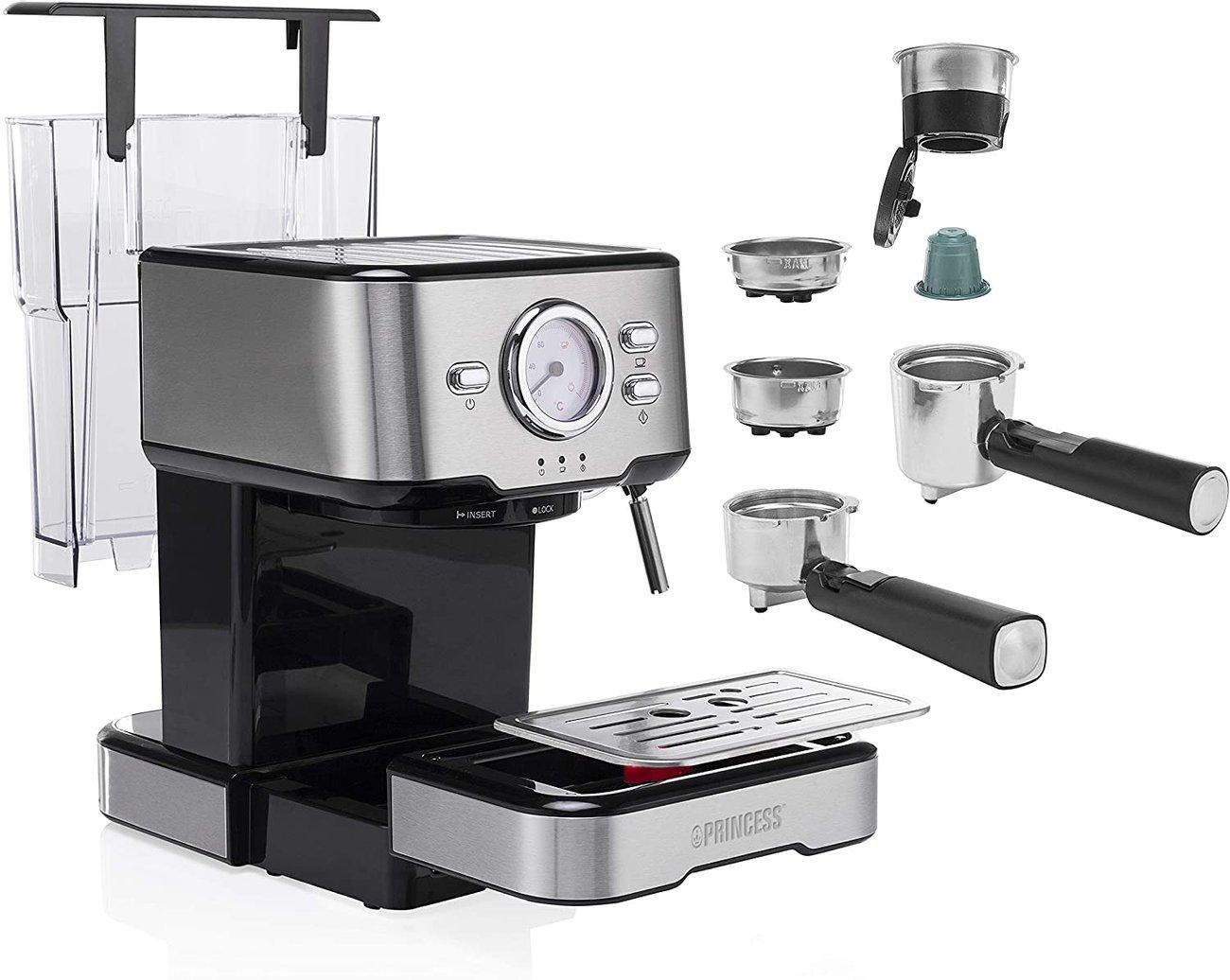 Кафемашина Princess 249412 2в1 еспресо Кафе машина капсули nespresso