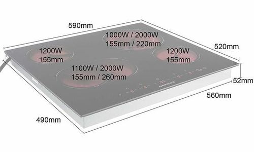 Стъклокерамичен плот Arebos AR-HE-GK4 за вграждане