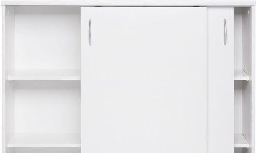 Дървен Шкаф Kiel 17 KIE-01 с плъзгащи врати бял мо