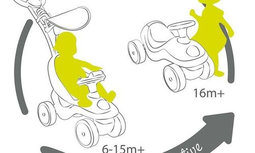 Детска Количка за бутане 2 в 1 Smoby Bubble Go 720