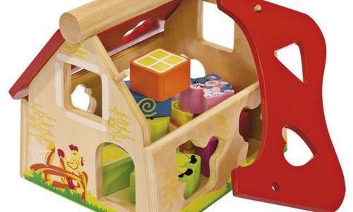 Детска дървена къщичка Eichhorn 100002098 Сортер с
