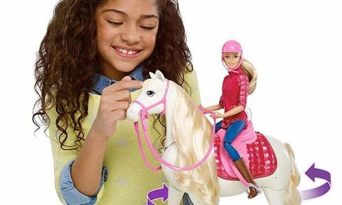 Кукла Барби жокей с интерактивен кон Barbie Mattel