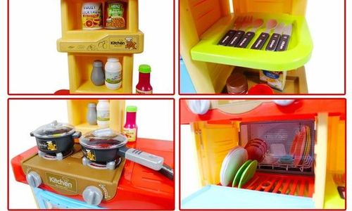 Детска кухня deAO котлони фурна миялна машина мивк