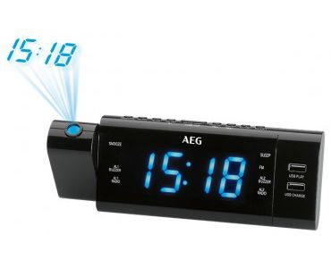 Радио часовник AEG MRC 4159 P Радиочасовник с прож